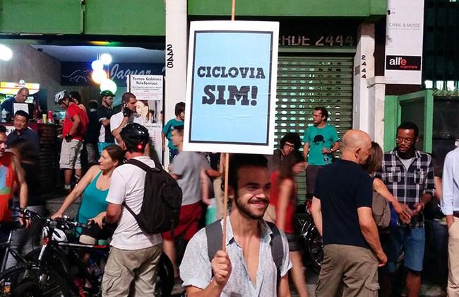Bicicletada a favor das Ciclovias de São Paulo – 27/03/2015